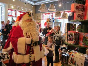 Santa comes to town at Red Balloon